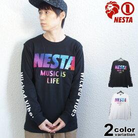 ネスタブランド NESTA BRAND Tシャツ 長袖 メンズ 203NB1109 レインボー 中肉 スムース ロンT (nesta brand ロンT トップス ネスタ) 【あす楽対応】