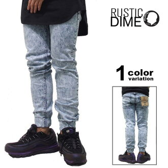 RUSTIC DIME rustic dime Jogger Sunset Jogger Jogger pants / acid-wash jeans and denim jeans [JS730]