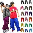 dbt ナイロンカーゴパンツ/リフレクター ダンス 衣装 ヒップホップ レディース メンズ(19色)