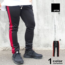 EPTM エピトミ パンツ トラックパンツ TECHNO TRACK PANTS BLACK/RED SP7712【あす楽対応】
