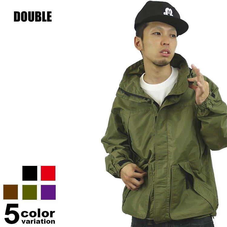 DOUBLE(ダブル)ナイロンアクティブジャケット(5色)【B系/HIPHOP/無地/JKT/ライトアウター】【あす楽対応】