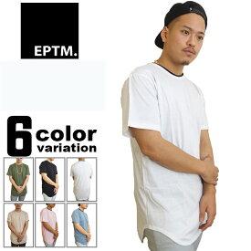 ロング丈 tシャツ メンズ EPTM エピトミ 無地 ラウンド (6色) [15EP-SP506] 【EPTM エピトミ ロング丈Tシャツ 丈長 トップス 無地Tシャツ モードストリート 大きいサイズ 2XL】【あす楽対応】