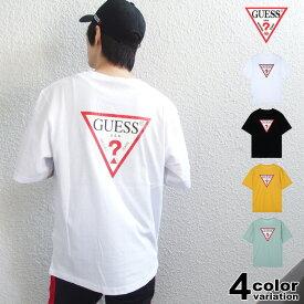 ゲス GUESS ビッグ Tシャツ 半袖 メンズ レディース Original Triangle Logo Back Print S/S Tee (guess tシャツ ビッグロゴ ティーシャツ T-SHIRTS カットソー トップス MJ2K9418) 【あす楽対応】