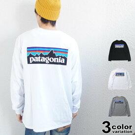 patagonia パタゴニア Tシャツ 長袖 ロングスリーブ P-6ロゴ レスポンシビリティー Tシャツ EUライン メンズ レディース (patagonia ロンt ロゴ アウトドア 大きいサイズ 38518 2020) 【あす楽対応】 【メール便対応】