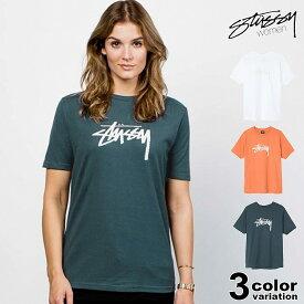 ステューシー STUSSY WOMEN Tシャツ 半袖 レディース Stock Tee (stussy tee ティーシャツ T-SHIRTS カットソー トップス 2902970 ストゥーシー スチューシー) 【あす楽対応】