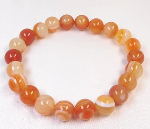 赤天眼石(サードオニキス)8ミリブレス B1tengan011