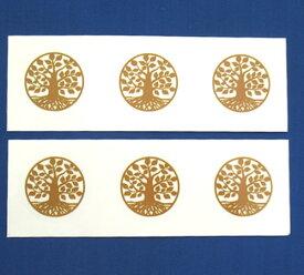 【Bタイプ】ツリーオブライフ25mmシール 6枚分 神聖幾何学図形 folst022