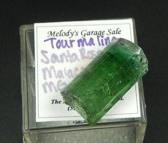 MGS绿色电气石结晶★旋律收集★旋律旧物出售证明字条★美丽的绿色真地出色!mgs022