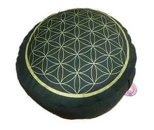 フラワーオブライフ瞑想用クッション/ヨガ座布団/ヒーリング・マインドフルネス/呼吸法/神聖幾何学図形 h001