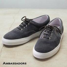 Ambassadors(アンバサダーズ)/VELVET Sneakers -MARENGO/SOLE WHITE-