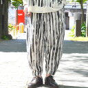 too good(トゥーグッド) / THE ACROBAT TROUSER TOOTHPASTE STRIPE -COAL-