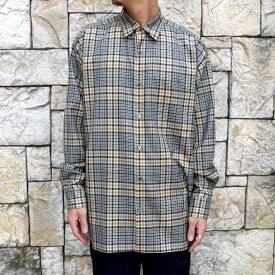 【WINTER SALE】MARKAWARE(マーカウェア)/Organic Wool Check Serge Comfort Fit Shirts -BEIGE-