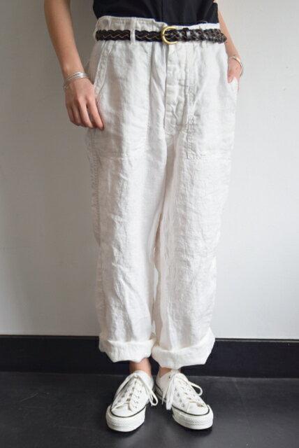 ARMEN(アーメン)/BAKER PANTS(WHITE)