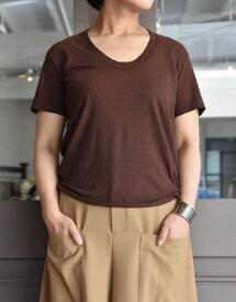 INSCRIRE(アンスクリア) / UネックTシャツ(3色展開)