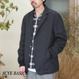 【18 SS】SCYE BASICS(サイベーシック) / PE/NY 高密度タフタ コーチブレザー -(120)スミクロ-