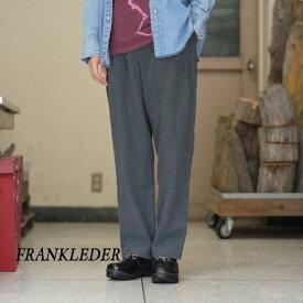 FRANK LEDER(フランク リーダー) / STONEWASHED LINEN DRAWSTRING TROUSER -(98)DK GRAY- #0213025