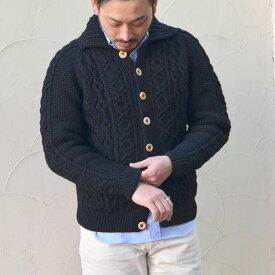 INVERALLAN(インバーアラン)/ 3A Lumber Cardigan(日本正規品)Heavy wt. -BLACK- 【Z】