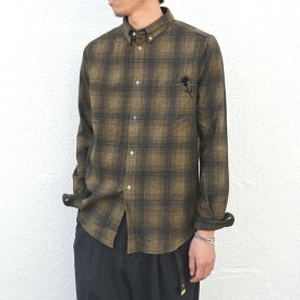 GOLDEN GOOSE(ゴールデングース)/ SHIRT GOLDEN -(A1)BROWN/KHAKI CHECK-