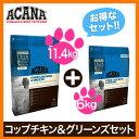 【お得なセット】【送料無料】アカナ コッブチキン&グリーン(6kg+11.4kg)全犬種/成犬用(6kg:賞味期限 2017.10.6…