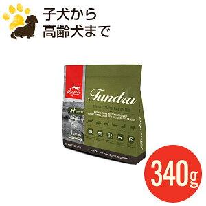 カナダ産 オリジン ツンドラ ドッグ 340g (正規品) 全年齢用 ドッグフード 総合栄養食 賞味期限2022.4.25