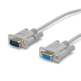 送料無料 StarTech.com 4.5m RS232Cシリアルストレートケーブル 延長用 1x ミニD-Sub9ピン/DB9(オス) - 1x ミニD-Sub9ピン/DB9(メス)