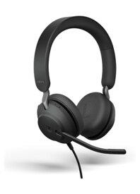 Jabra EVOLVE2 40 MS Stereo USB-C PCステレオヘッドセット メーカー保証2年付き 在宅勤務 テレワーク 送料無料