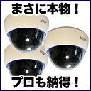 【防犯カメラ ダミー】ダミーカメラ 監視カメラ 3台セット【本物と間違えるダミーカメラ】 DAM001-3