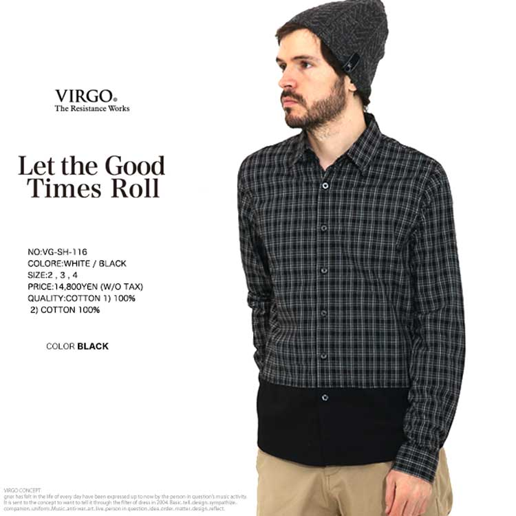 【50%OFF】 VIRGO ヴァルゴ check shirts チェック シャツ Y