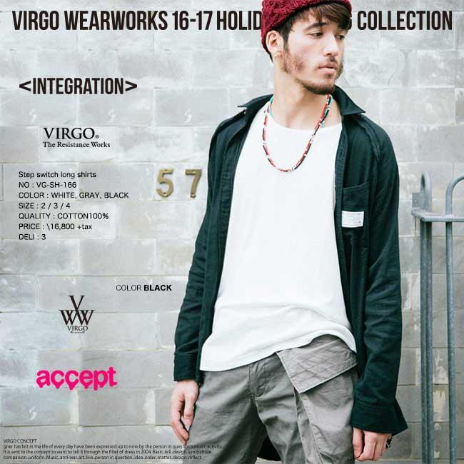 【30%OFF】VIRGO ヴァルゴ Step switch long shirts ロングシャツ