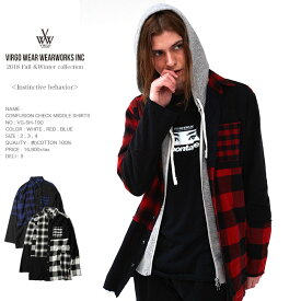 30%OFF VIRGO ヴァルゴ CONFUSION CHECK MIDDLE SHIRTS ロングシャツ 日本製 vg18aw