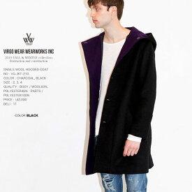 先行予約 VIRGO ヴァルゴ SNAILS WOOL HOODED COAT ウールフードコート 日本製 vg19aw 11月 (星)