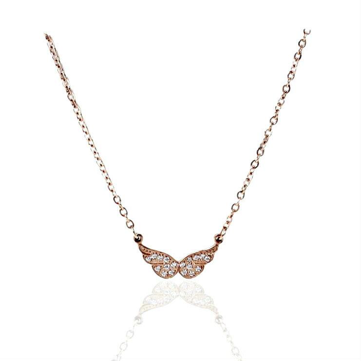 天使の翼ネックレス 天使の贈り物 天使翼モチーフ ペンダント シンプルなデザイン ネックレス キュートな雰囲気 アクセサリー 贈り物としてもおすすめの商品です