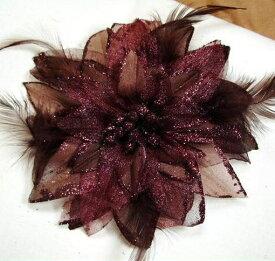 昼12時まで即営業日発送! コサージュ パーティー 卒園式 入園式 結婚式 髪飾り 花飾り 花 ブラウン 茶 クリスマス