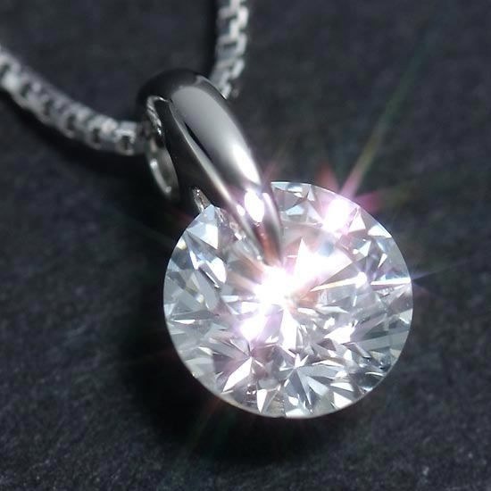 ダイヤモンド 鑑定書付 一粒 ダイヤネックレス 最高峰Dカラープラチナ Dカラー 一粒ダイヤモンド大粒0.5ct ネックレス/送料無料