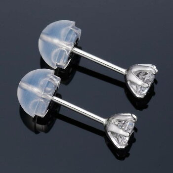 Pt900ダイヤモンドDカラー0.4ctup6本爪ピアス
