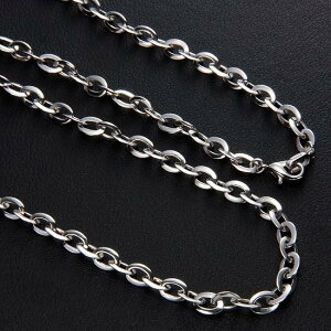 18金 ネックレス チェーン メンズチェーンネックレス K18 18K レディース 60cm 19g ホワイトゴールド 地金 日本製 刻印入り 長さ指定作成可能 男女兼用