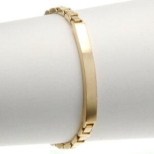 IDブレスレット K18 18金 ゴールド スタイリッシュチェーン 20g 長さ指定作成可能 刻印入り 日本製
