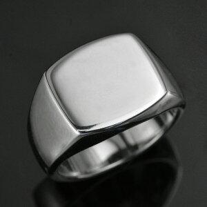 【8/1(日)24時間限定ポイント11倍!】18金 印台 リング 指輪 メンズリング 18金 K18 18K ホワイトゴールド 印台 男性用 日本製 刻印入り ごつい 太め 大きいサイズ 作製可能
