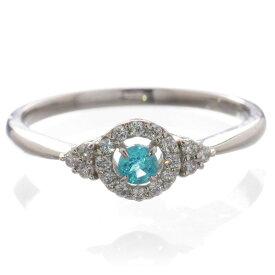 パライバトルマリン リング プラチナ 指輪 ダイヤモンド Pt900 刻印入り 鑑別書付き 日本製