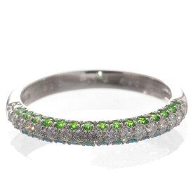 パライバトルマリン デマントイドガーネット リング プラチナ 指輪 ダイヤモンド Pt950 刻印入り 鑑別書付き 日本製