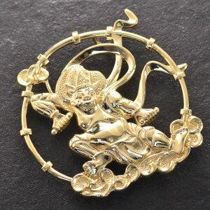 18金 ペンダントトップ メンズ 雷神 k18 18k ゴールド 31g 日本製 刻印入り ペンダントヘッド 大きめ 男性