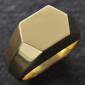 【5%OFFクーポン】18金 印台 リング 指輪 メンズリング 18金 印台 K18 ゴールド 幅広 地金 男性用 日本製 刻印入り ダイヤモンドセット可能 ごつい 太め 大きいサイズ 作製可能 裏抜き無し