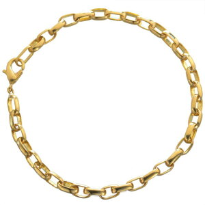ブレスレット 24金 メンズ K24 ゴールド 13g 20cm 地金 チェーン 日本製 刻印入り 長さ指定可能 ユニセックス 男女兼用 純金