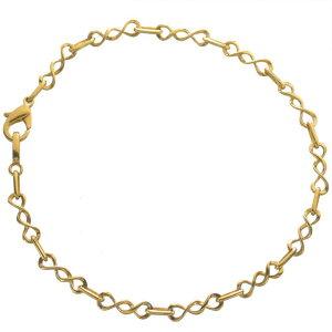ブレスレット 24金 メンズ K24 24K ゴールド 6g 21cm 地金 チェーン 日本製 刻印入り 長さ指定可能 ユニセックス 男女兼用 純金