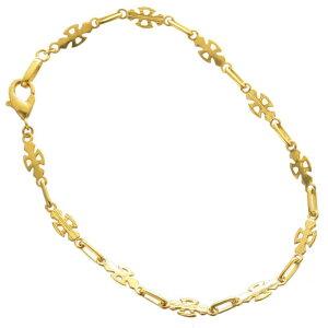 ブレスレット 24金 メンズ K24 24K ゴールド 5g 20cm クロス 地金 チェーン 日本製 刻印入り 長さ指定可能 ユニセックス 男女兼用 純金