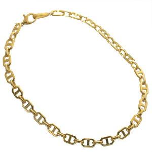 ブレスレット 24金 メンズ K24 24K ゴールド 11g 20cm 地金 チェーン 日本製 刻印入り 長さ指定可能 ユニセックス 男女兼用 純金