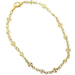 ブレスレット 24金 メンズ K24 24K ゴールド 4g 20cm 地金 チェーン 日本製 刻印入り 長さ指定可能 ユニセックス 男女兼用 純金