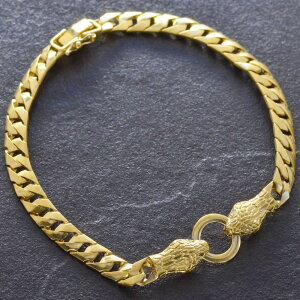喜平 ブレスレット K24 メンズ 純金 24金 ゴールド 23g 21cm ダイヤモンド 蛇 スネーク 日本製 刻印入り 長さ指定可能 キヘイ 男性用 5mm幅 手造り