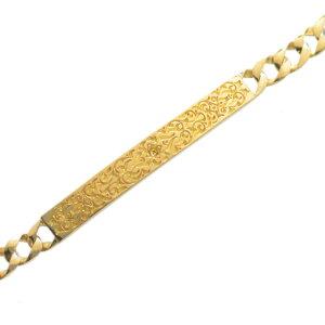 喜平 ブレスレット K24 メンズ 純金 24金 ゴールド 11g 20cm プレート 日本製 刻印入り 長さ指定可能 キヘイ 男女兼用 4mm幅 手造り