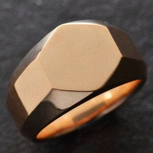 【5%OFFクーポン】18金 印台 リング 指輪 メンズリング K18 ピンクゴールド 幅広 地金 男性用 日本製 刻印入り ダイヤモンドセット可能 ごつい 太め 大きいサイズ 作製可能 裏抜き無し